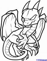 Dragon Coloring Pages Easy Drawing Drawings Boys Draw sketch template
