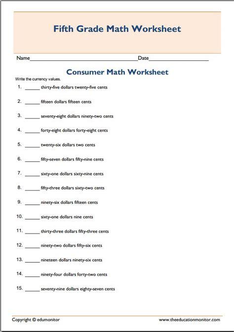 Consumer Math Worksheets  Consumer Math High School Lessons Educational Activitiesconsumer