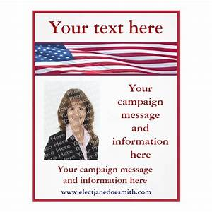 american flag election campaign flyer template zazzle With voting flyer templates free