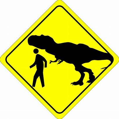 Caution Sign Clipart Crossing Pedestrian Funny Symbol