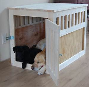 stylish dog crates so your cute and furry friend can With large wood dog crate furniture