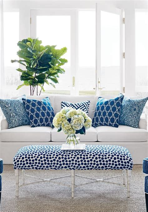 Blue Living Room Accessories by South Shore Decorating Blue White Rooms And