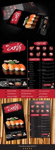 sushi fan cafe menu this restaurant menu catches my attention first of all i