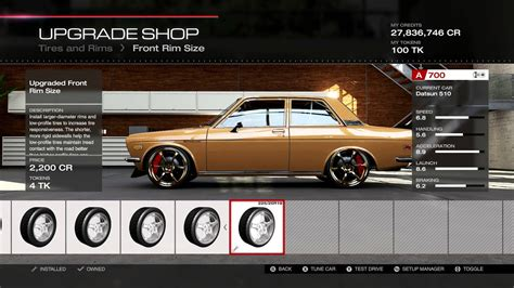 Datsun 510 Restoration Parts by Forza 5 Parts And Tune For Datsun 510 From 3 And Out