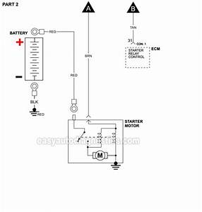 Starter Motor Circuit Diagram  1998