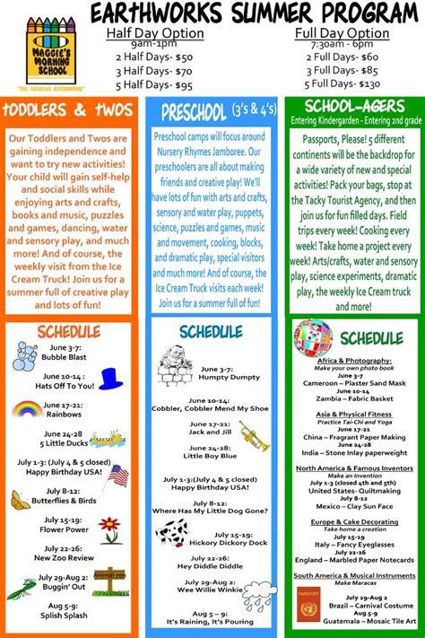 preschool summer camp schedule preschool summer camp themes summer camp at home 25 260