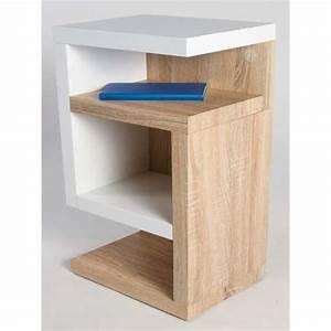 Table De Chevet Cube : table de nuit en chene table de chevet pied bois nostraberus ~ Teatrodelosmanantiales.com Idées de Décoration
