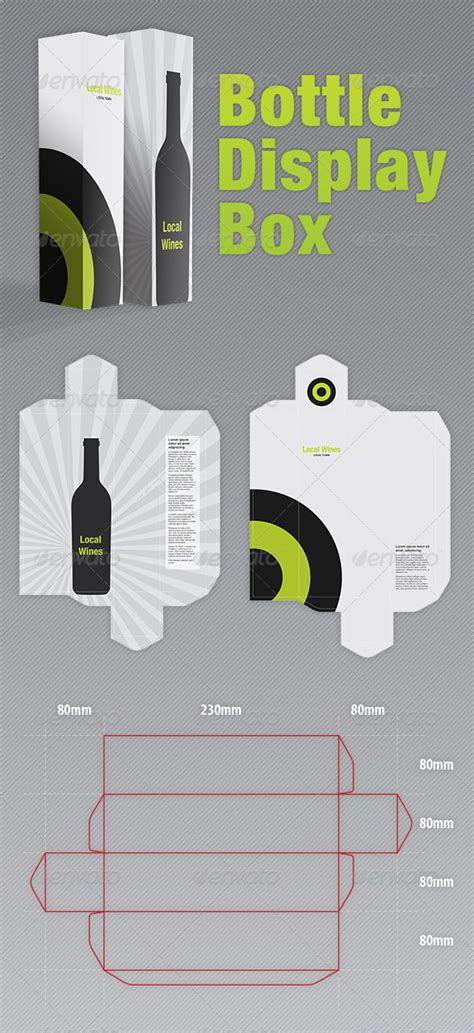 bottle packaging box template bottle display box packaging graphicriver
