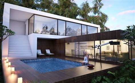 Free 3D Models   HOUSES   VILLAS   Villa in the forest