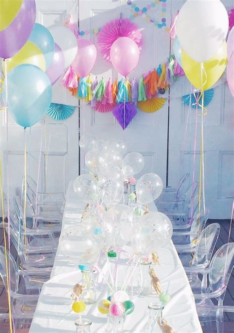pastel unicorn licorne decoration anniversaire