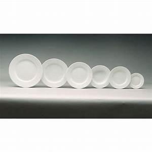 Assiette Plate Blanche : assiette plate ronde blanche 31cm en porcelaine sarreguemines ~ Teatrodelosmanantiales.com Idées de Décoration