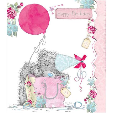 tatty teddy  bag birthday    bear card
