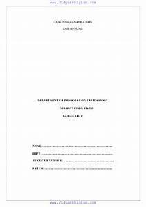 It6513 Case Tools Laboratory Lab Manual