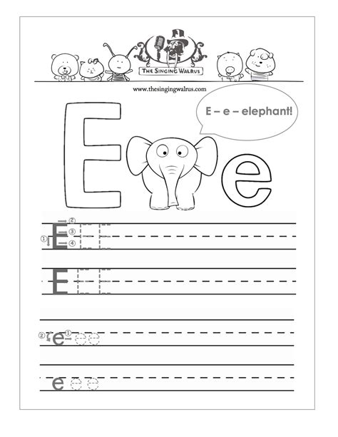 worksheet letter e worksheets for preschool grass fedjp