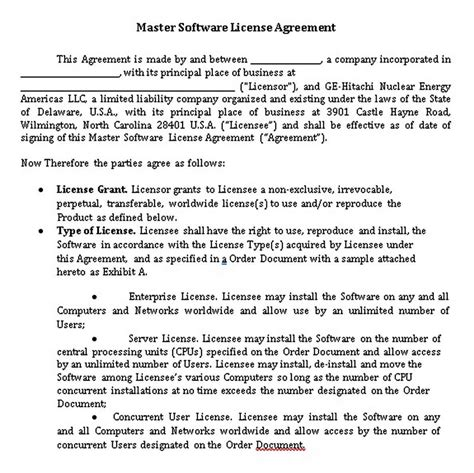 software development  license agreement templates pitsel
