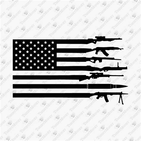 If you have any questions please message me. American Flag Made With Guns SVG Cut File | TeeDesignery.com