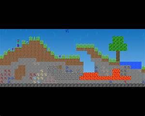 My Minecraft Classic Like Game Work In Progress 2 D