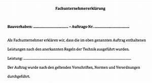 Einverständniserklärung Reise Kind Muster : muster fachunternehmererkl rung convictorius ~ Themetempest.com Abrechnung
