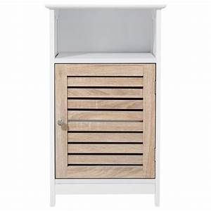 Meuble Bas Porte : meuble bas 1 porte patine blanc ~ Edinachiropracticcenter.com Idées de Décoration