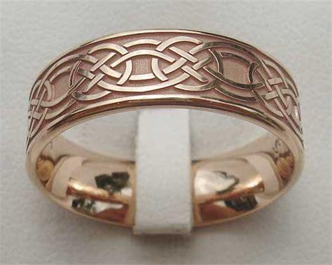 rose gold celtic wedding ring lovehave   uk