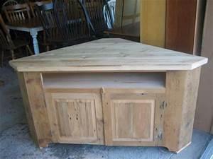 barn wood corner tv stand corner tv riser made from With barnwood corner tv stand