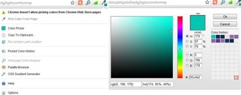 5 free color picker chrome extensions
