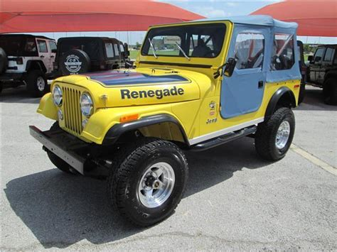 cj jeep yellow 1977 jeep cj7 renegade 71 475 miles yellow convertible v8