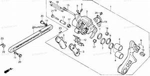 Honda Motorcycle 1987 Oem Parts Diagram For Rear Brake