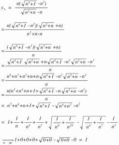 Grenzwert Einer Reihe Berechnen : grenzwert grenzwert berechnen mit wurzeln s n n n 4 1 n 2 n 2 n n ~ Themetempest.com Abrechnung