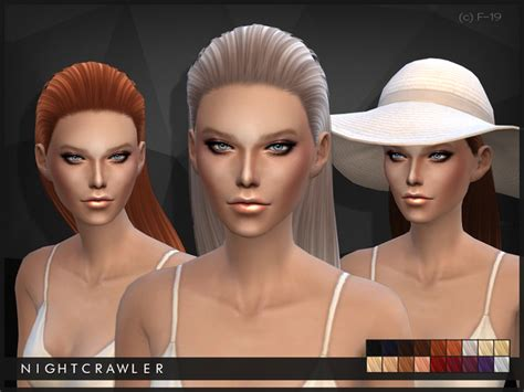 You are currently browsing sims 4 • flour • custom content. The Sims Resource: Half up do hairstyle 19 by Nightcrawler ~ Sims 4 Hairs