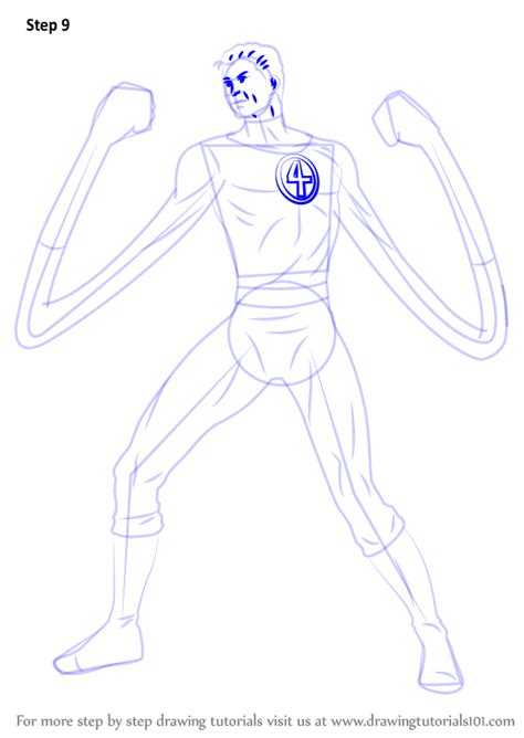 learn   draw mister fantastic marvel comics step