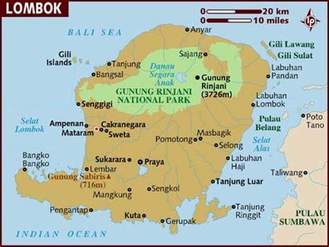 map  lombok island pt vip  travel bali hotels