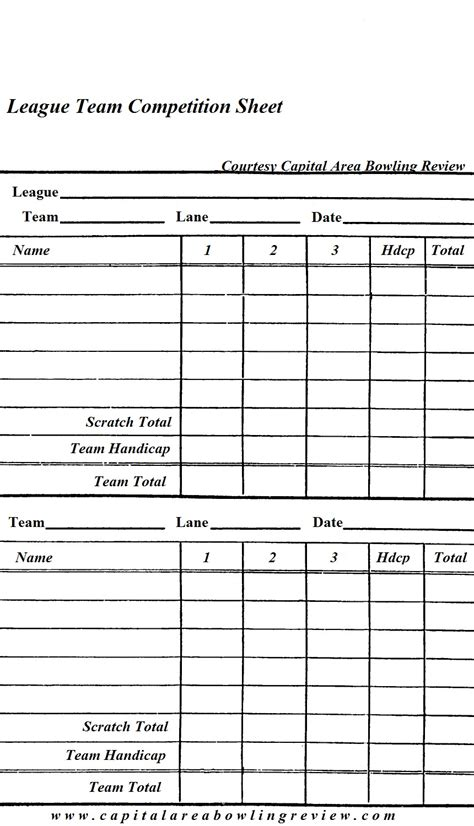 bowling stats spreadsheet printable spreadshee bowling