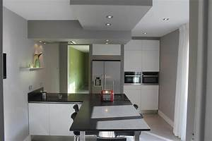 eclairage cuisine plafond hotte de cuisine de plafond With eclairage faux plafond cuisine