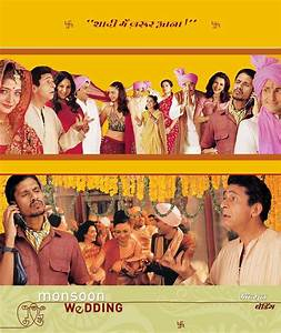Monsoon Wedding--this poster has awesome character photos ...
