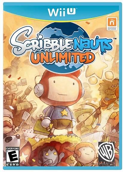 Scribblenauts Unlimited Box Wii Wiiu Brothers Vgboxart