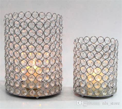 wedding decoration crystal beaded bling acrylic votive