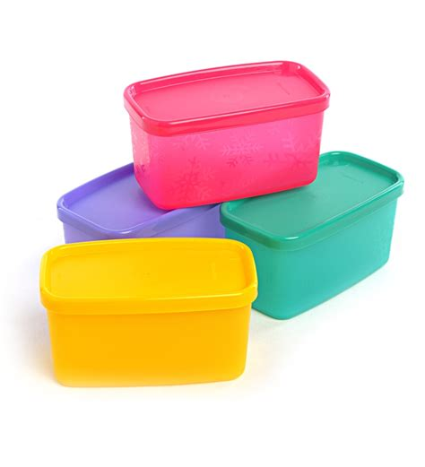 canisters for the kitchen tupperware cool square half set of 4 by tupperware