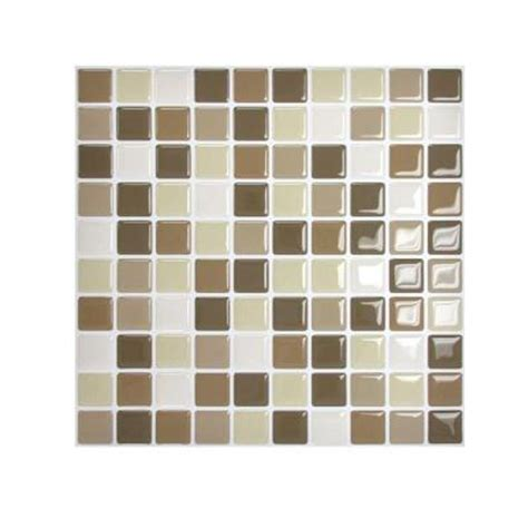 smart tiles 9 85 in x 9 85 in mosaic adhesive decorative