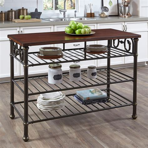 hayneedle kitchen island home styles richmond hill kitchen island with wood top