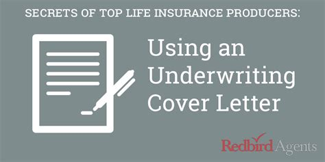 We will consult with our underwriting advisor and get. Secrets of Top Producers: Using an Underwriting Cover Letter