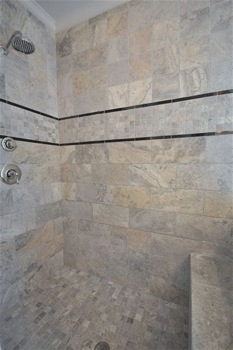 emser tile silver tumbled travertine bathrooms