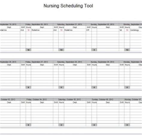 hospital nurse schedule excel template nurse schedule