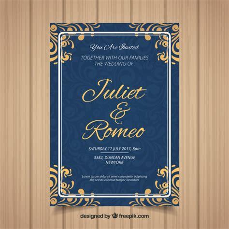 wedding invitation card   ornaments vector