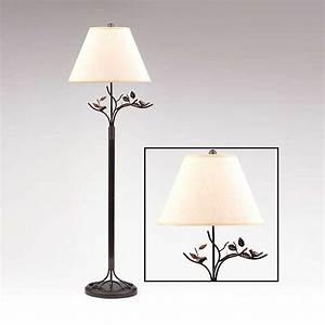 Bird & Leaf Bronze Floor Lamp Kirklands