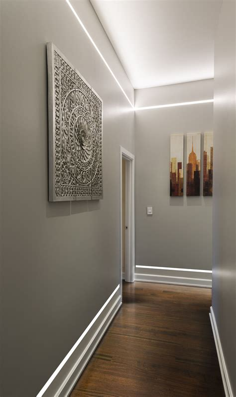 illuminate  hallway  ceiling fixtures  wall