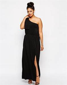 Vetement Pour Les Rondes : robe longue noire asym trique pour femme ronde shop befashionlike ~ Preciouscoupons.com Idées de Décoration