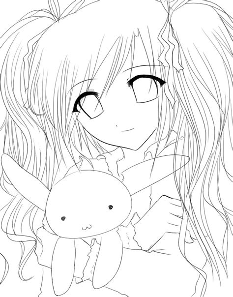female anime hair coloring pages