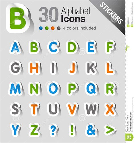 stickers alphabet stock photos image 28500933