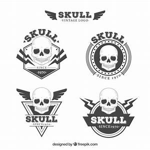 Pack of skull logos in vintage style Vector | Free Download